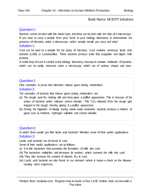 ⛔ Ncert solutions for class 12 biology chapter 1 pdf