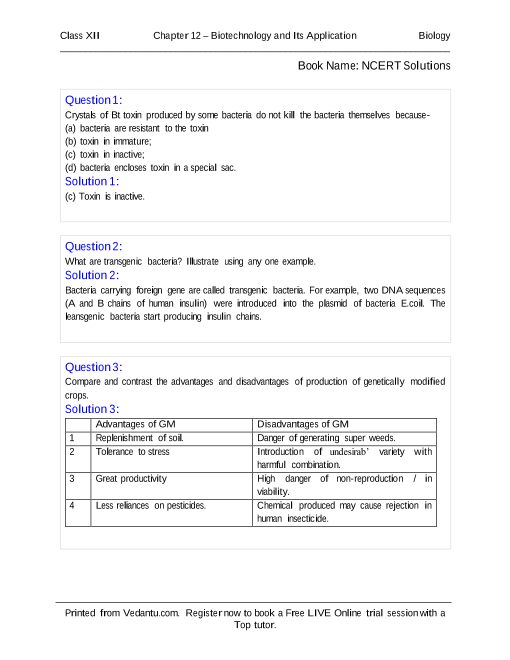 NCERT Books Free Download for Class 12 Biology Chapter 12