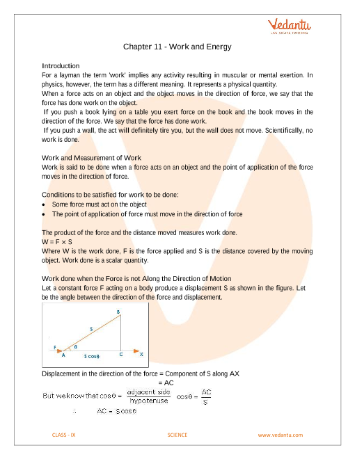 Chapter 11 - Work and Energy part-1