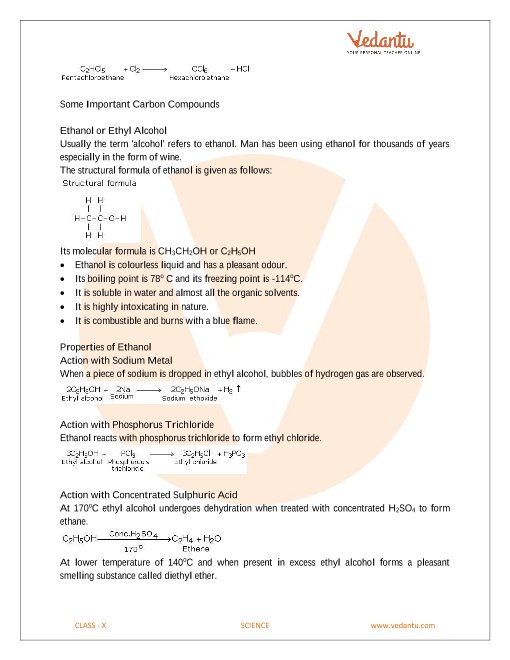 CBSE Class 10 Science Chapter 4 - Carbon and Its Compounds