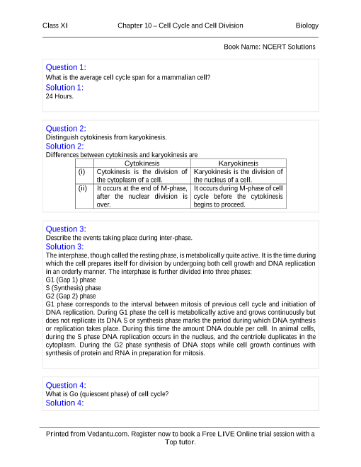 NCERT Books Free Download for Class 11 Biology Chapter 10