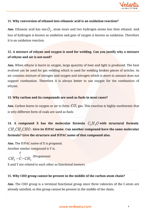 Important Questions for CBSE Class 10 Science Chapter 4