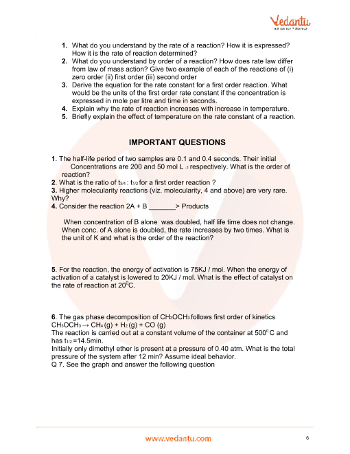 Important Questions for CBSE Class 12 Chemistry Chapter 4
