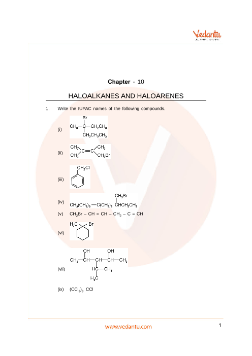 Important Questions Class 12 Chemistry Chapter 10 part-1