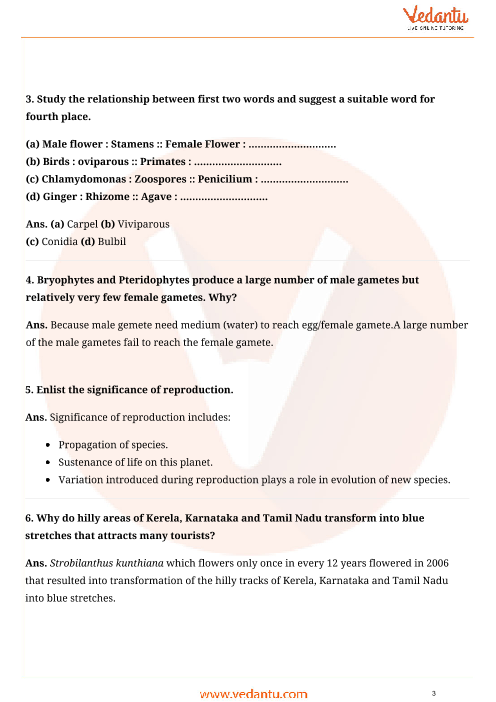 Important Questions for CBSE Class 12 Biology Chapter 1