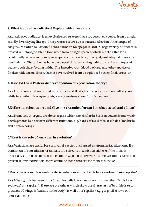 Important Questions for CBSE Class 12 Biology Chapter 7
