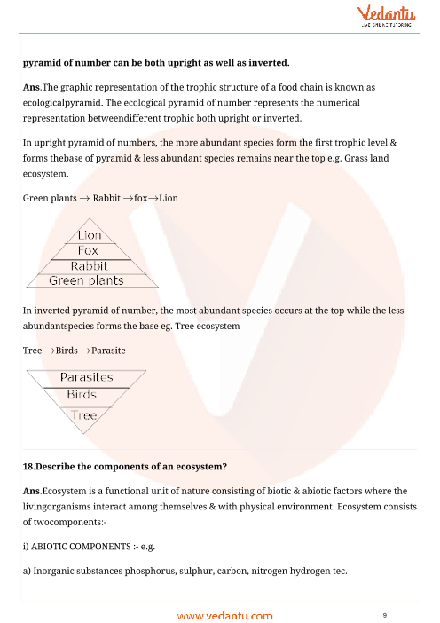 Important Questions for CBSE Class 12 Biology Chapter 14