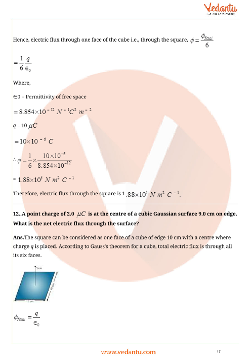 Important Questions for CBSE Class 12 Physics Chapter 1