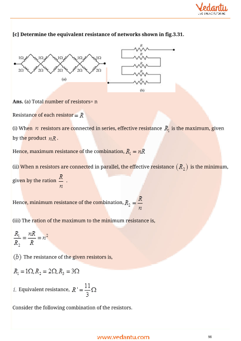 Important Questions for CBSE Class 12 Physics Chapter 3 - Current