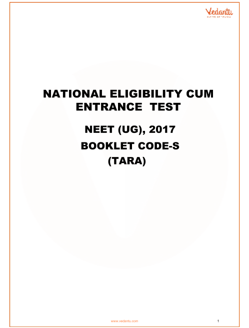 NEET 2017 Question Paper code-S with Answer Key part-1