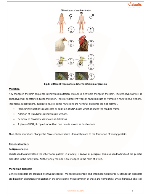 CBSE Class 12 Biology Chapter 5 - Principles of Inheritance and