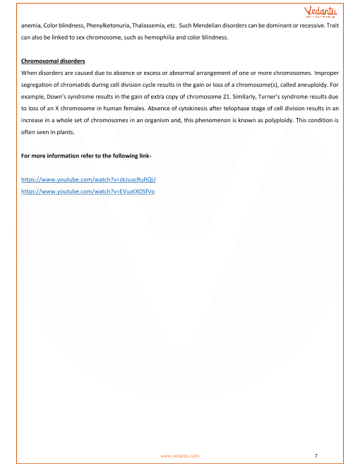 CBSE Class 12 Biology Chapter 5 - Principles of Inheritance