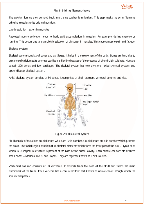 CBSE Class 11 Biology Chapter 20 - Locomotion and Movement
