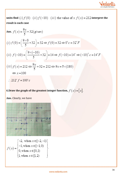Important Questions for CBSE Class 11 Maths Chapter 2