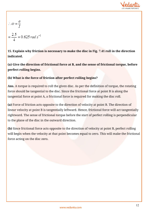 Important Questions for CBSE Class 11 Physics Chapter 7