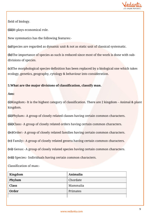 Important Questions for CBSE Class 11 Biology Chapter 1 - The Living