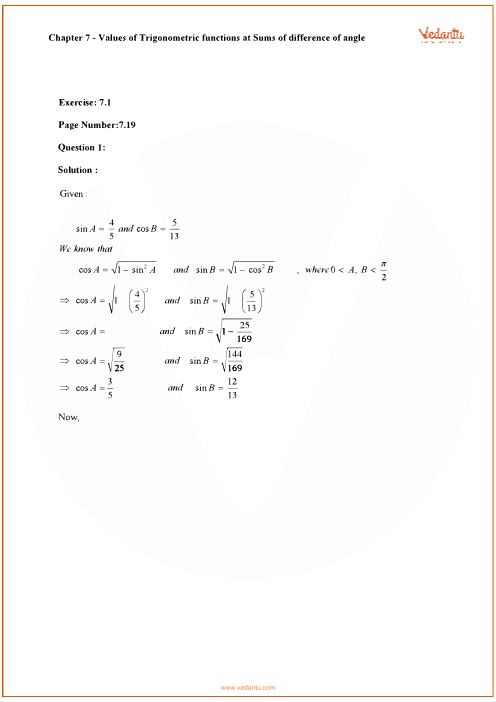RD Sharma Class 11 Maths Solutions Chapter 7 - Trigonometric