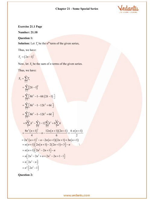 RD Sharma Class 11 Solutions Chapter 21 part-1