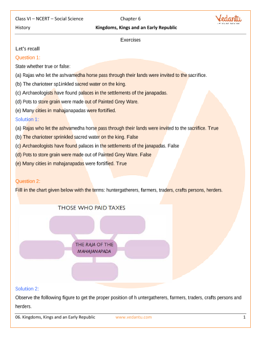 NCERT Solutions for Class 6 Social Science History - Our