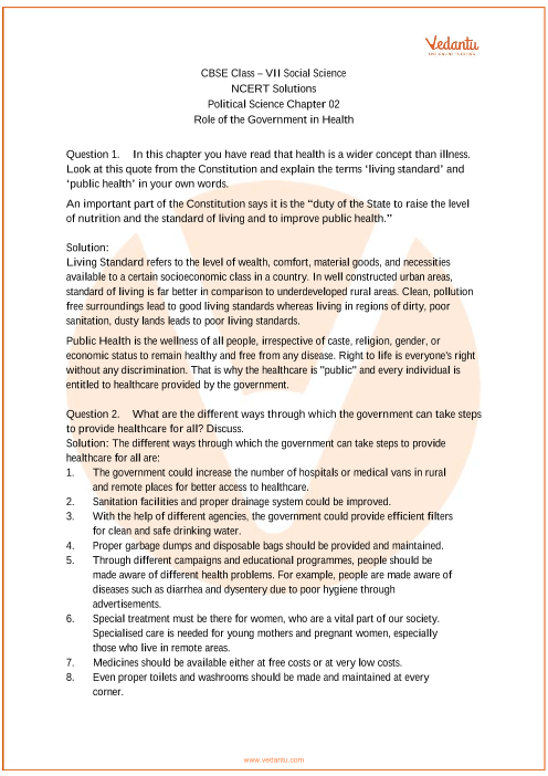 NCERT Solutions for Class 7 Social Science - Social and Political