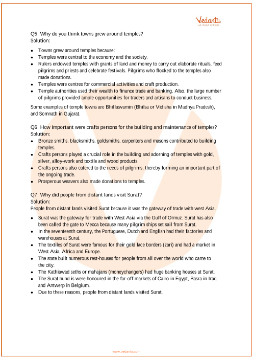 NCERT Solutions for Class 7 Social Science Our Pasts-2 Chapter-6