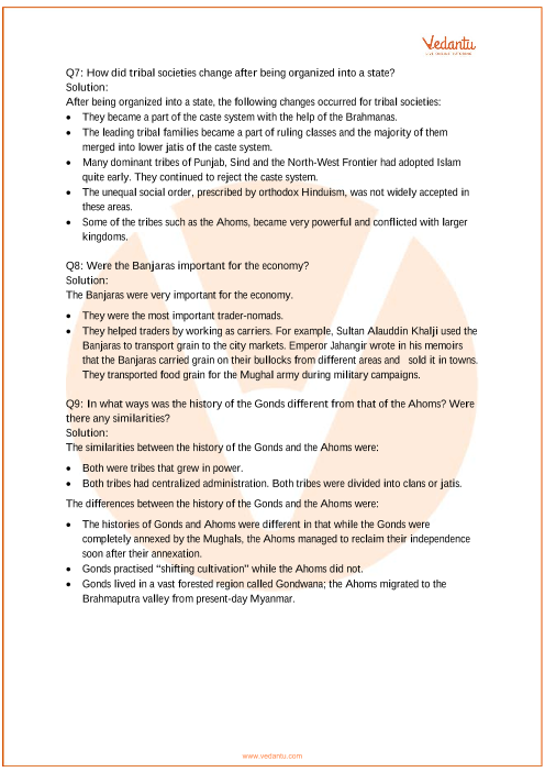 NCERT Solutions for Class 7 Social Science Our Pasts-2 Chapter-7