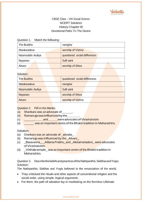 NCERT Solutions for Class 7 Social Science Our Pasts-2 Chapter-8