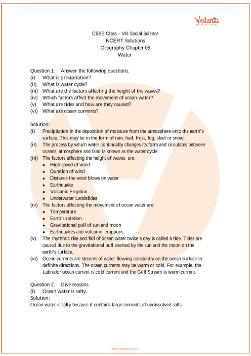 NCERT Solutions for Class 7 Social Science Our Environment