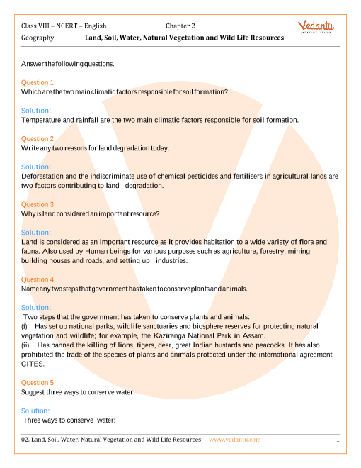 NCERT Solutions for Class 8 Social Science Geography Chap-2 part-1