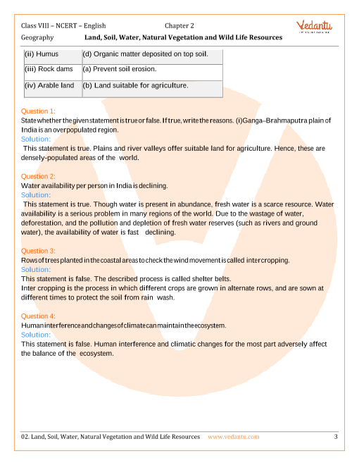 NCERT Solutions for Class 8 Social Science - Resources and