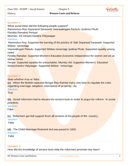 NCERT Solutions for Class 8 Social Science History - Our Pasts-3