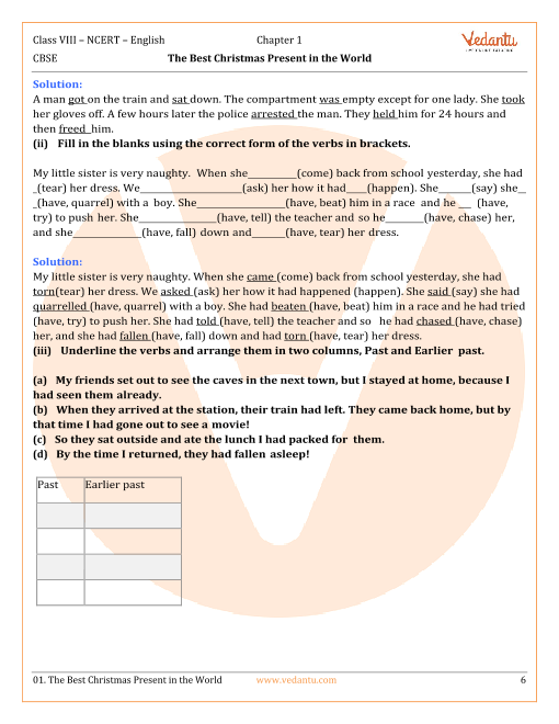 NCERT Solutions for Class 8 English Honeydew Chapter 1 - The Best