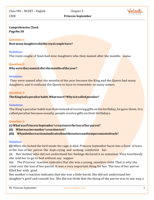 NCERT Solutions Class 8 English IT So Happened Chap-5 part-1