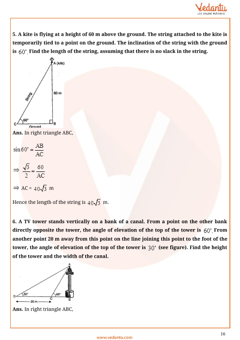 Important Questions for CBSE Class 10 Maths Chapter 9 - Some