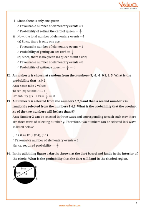 Important Questions for CBSE Class 10 Maths Chapter 15 - Probability