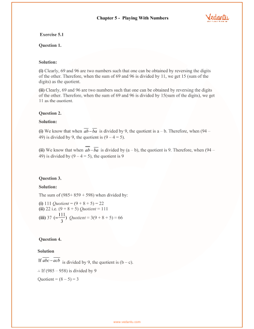 RD Sharma Class 8 Solutions Chapter 5 part-1