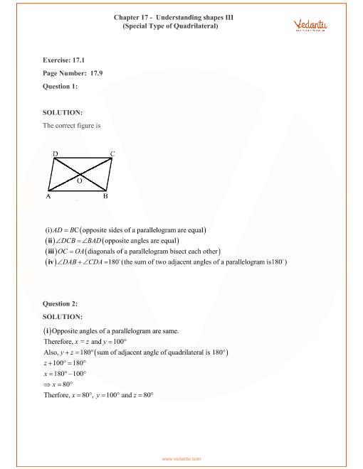 RD Sharma Class 8 Maths Solutions Chapter 17 - Understanding Shapes