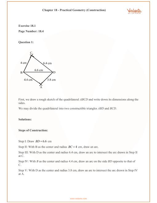 RD Sharma Class 8 Maths Solutions Chapter 18 - Practical