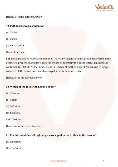 NCERT Exemplar for Class 9 Maths Chapter 5 - Introduction to Euclids