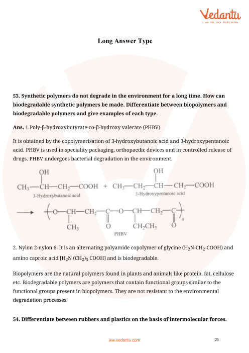 NCERT Exemplar for Class 12 Chemistry Chapter 15 - Polymers (Book