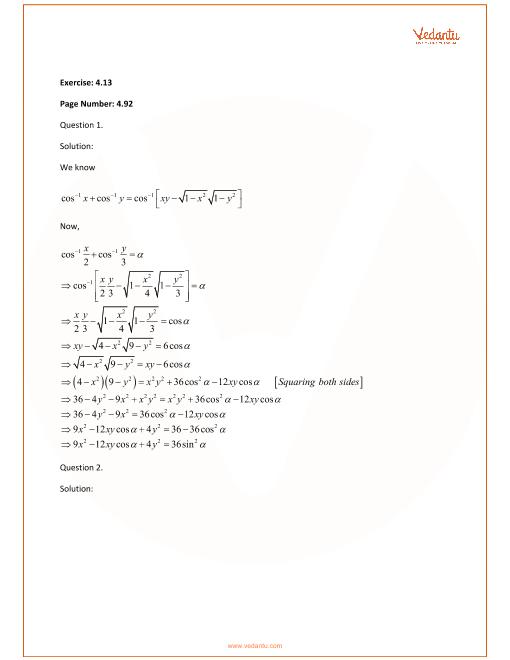 RD Sharma Class 12 Maths Solutions Chapter 4 - Inverse