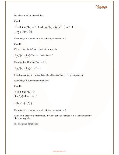 Limits And Continuity Exercises With Answers