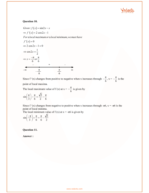 RD Sharma Class 12 Maths Solutions Chapter 18 - Maxima and Minima
