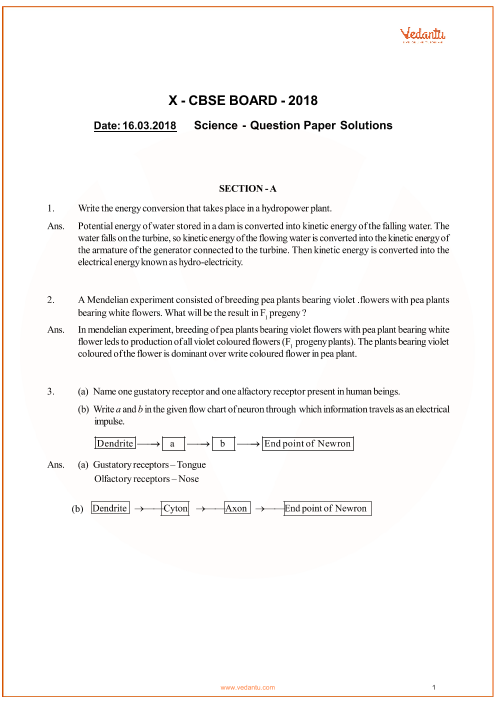 CBSE Class 10 Science QP with Solutions part-1