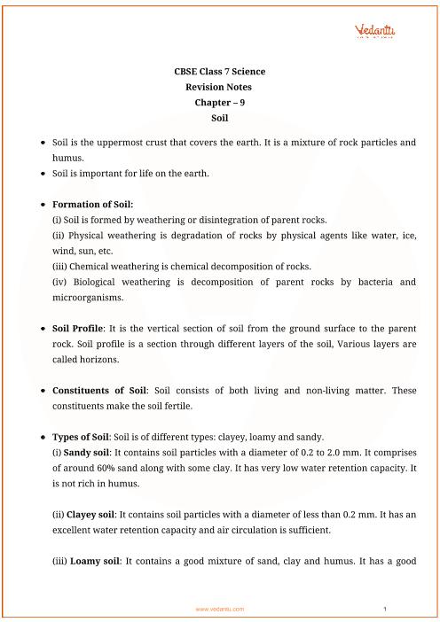 Class_7_science_key_notes_ch09_soil part-1