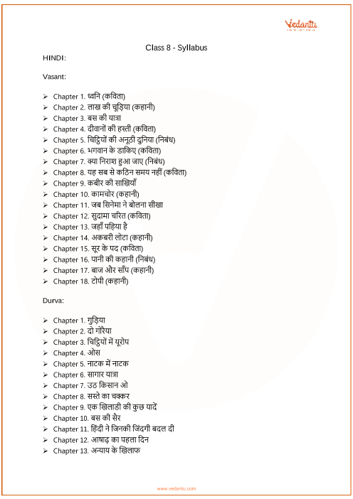 CBSE Class 8_Hindi_2018-2019_Syllabus part-1