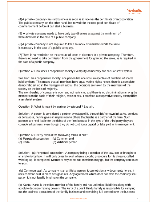 NCERT Solutions for Class 11 Business Studies - Chapter 2