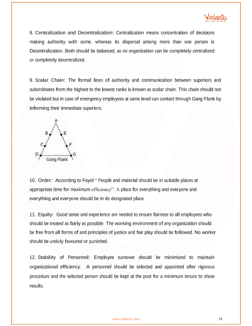 CBSE Class 12 Business Studies Chapter 2 - Principles of Management