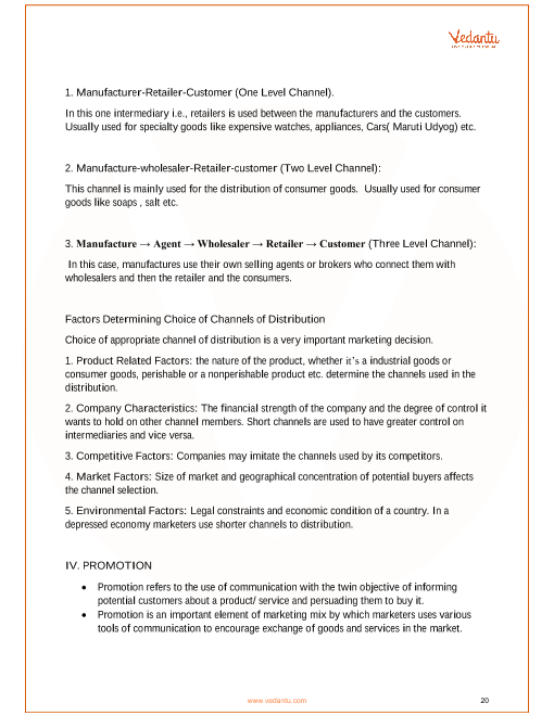 principles of marketing short notes