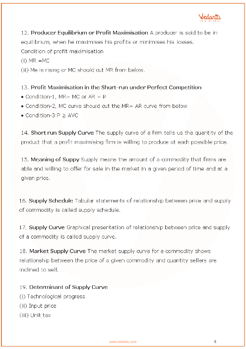 CBSE Class 12 Micro Economics Chapter 4 - The Theory of the Firm